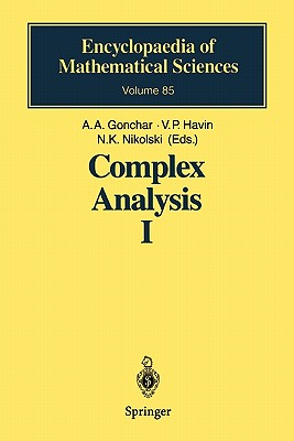 Complex Analysis: Pt.1: Entire and Meromorphic Functions. Polyanalytic Functions and Their Generalizations - Gonchar, Andrei A. (Editor), and Havin, Viktor P (Editor), and Nikolski, N. K. (Editor)