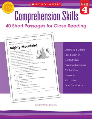 Comprehension Skills: 40 Short Passages for Close Reading: Grade 4 - Beech, Linda
