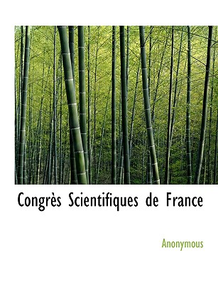 Congr?'s Scientifiques de France - Anonymous