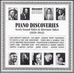 Piano Discoveries: Newly Found Titles & Alternate Takes (1928-1943)