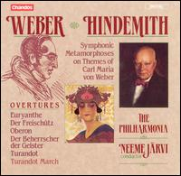 Weber: Overtures; Hindemith: Symphonic Metamorphoses on the Themes of Carl Maria von Weber - Philharmonia Orchestra; Neeme J�rvi (conductor)