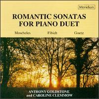 Romantic Sonatas For Piano Duet - Anthony Goldstone (piano); Caroline Clemmow (piano)