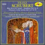 Schubert: Mass No. 4 in C major; Symphony No. 3 in D; Overtures in the italian style in C & D