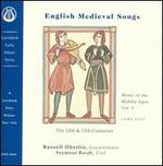 English Medieval Songs: The 12th and 13th Centuries