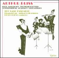 Bliss: Rout; Rhapsody; Conversations; etc. - Anthony Rolfe Johnson (tenor); Elizabeth Gale (soprano); Nash Ensemble; Chamber Orchestra; Lionel Friend (conductor)