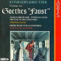 Konradin Kreutzer: Songs from Goethe's Faust - Alison Browner (mezzo-soprano); Dieter Agricola (tenor); Ekkehard Abele (bass); Frank Bossert (tenor);...