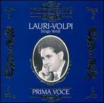 Sings Verdi [Audio Cd] Lauri-Volpi, Giacomo