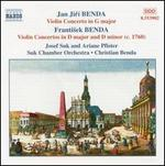 Jan Jirf & Frantisek Benda: Violin Concertos, Vol. 1