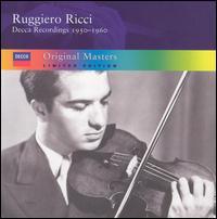 Decca Recordings, 1950-1960 (Limited Edition) [Box Set] - Carlo Bussotti (piano); Ruggiero Ricci (violin)