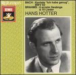 """Bach: Kantate """"Ich habe genug"""" BWV 82; Brahms: 4 ernste GesSnge & 10 Lieder"""