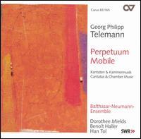 Telemann: Perpetuum Mobile - Balthasar-Neumann-Ensemble; Beno�t Haller (tenor); Dorothee Mields (soprano); Han Tol (recorder)