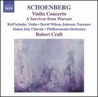 Schoenberg: Violin Concerto; A Survivor from Warsaw - David Wilson-Johnson; Fred Sherry String Quartet; Jeremy Denk (piano); Rolf Schulte (violin);...