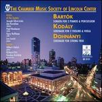 Bart=k: Sonata for 2 Pianos & Percussion; Kod�ly: Serenade for 2 Violins & Viola; Dohn�nyi: Serenade for String Trio