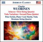 Charles Wuorinen: Scherzo; String Quartet No. 1; Viola Variations; Piano Quintet No. 2