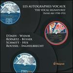 Les Autographes vocaux (The Vocal Signatures)