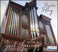Recital in York Springs - Riyehee Hong (organ)