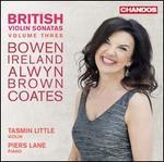 British Violin Sonatas Vol 3 [Tasmin Little; Piers Lane] [Chandos: Chan 20133]