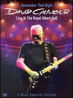 David Gilmour: Remember That Night-Live From the Royal Albert Hall