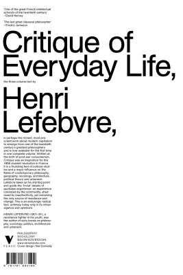 Critique of Everyday Life: The Three-Volume Text - Lefebvre, Henri, Professor