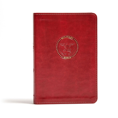 CSB Military Bible, Burgundy Leathertouch - Csb Bibles by Holman