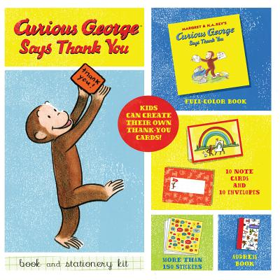 Curious George Says Thank You Book and Stationery Kit - Rey, H A