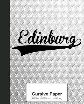 Cursive Paper: EDINBURG Notebook - Weezag