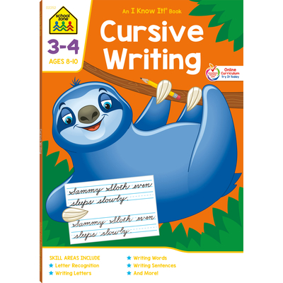 Cursive Writing 3-4 Ages 8-10 - School Zone (Editor)