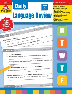 Daily Language Review, Grade 4 - Williams, Richard H, and Williams, Laura B, and Evan-Moor Educational Publishers
