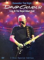 David Gilmour: Remember That Night - Live at the Rah [2 Discs] [Blu-ray]