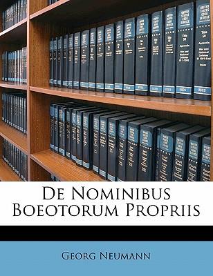de Nominibus Boeotorum Propriis - Neumann, Georg