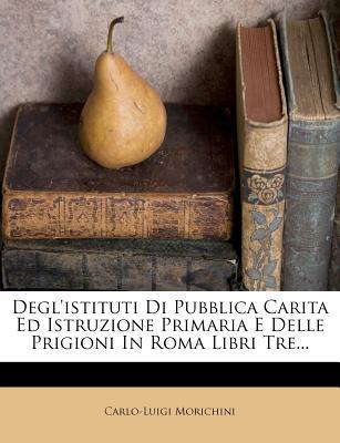 Degl'istituti Di Pubblica Carita Ed Istruzione Primaria E Delle Prigioni in Roma Libri Tre... - Morichini, Carlo-Luigi