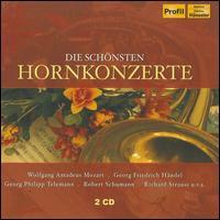 Die schönsten Hornkonzerte - Dresden Staatskapelle Hornquartett (brass ensemble); Erich Penzel (horn); Francesco Raselli (horn); Hermann Baumann (horn);...