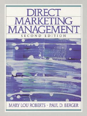 Direct Marketing Management - Roberts, Mary Lou