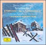 "Dmitri Shostakovich: Symphony No. 1; Symphony No. 7 ""Leningrad"" - Chicago Symphony Orchestra; Leonard Bernstein (conductor)"