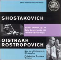 Dmitri Shostakovich: Violin Concerto, Op. 99; Cello Concerto, Op. 107 - David Oistrakh (violin); Mstislav Rostropovich (cello)