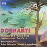 Dohn�nyi: Variations on a Nursery Song; Symphonic Minutes; Suite, Op. 19