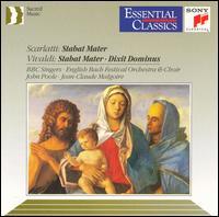 Domenico Scarlatti: Stabat Mater; Vivaldi: Stabat Mater; Dixit Dominus - Anna Bernardin (soprano); Anthony Pleeth (cello); BBC Singers (vocals); Francis Baines (double bass); Helen Watts (alto);...