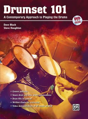 Drumset 101: A Contemporary Approach to Playing the Drums - Black, Dave