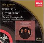 """Dutilleux: Cello Concerto """"Tout un monde lointain""""; Lutoslawski: Cello Concerto"""