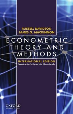 Econometric Theory and Methods: International Edition - Davidson, Russell