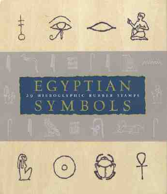 Egyptian Symbols: A Hieroglyphic Stamp Kit - Larson, Jennifer S (Text by), and Chronicle Books