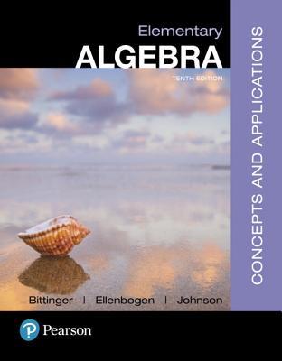 Elementary Algebra: Concepts and Applications - Bittinger, Marvin L., and Ellenbogen, David J., and Johnson, Barbara L.