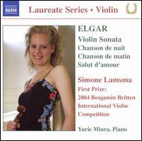 Elgar: Violin Sonata; Chanson de nuit; Chanson de matin; Salut d'amour - Simone Lamsma (violin); Yurie Miura (piano)