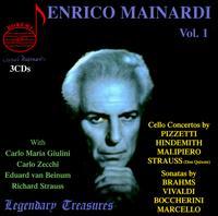 Enrico Mainardi: Cello Concertos, Vol. 1 - Carlo Zecchi (piano); Enrico Mainardi (cello); Georg Kniestadt (violin); Karl Reits (viola)