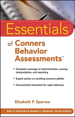 Essentials of Conners Behavior Assessments - Sparrow, Elizabeth P
