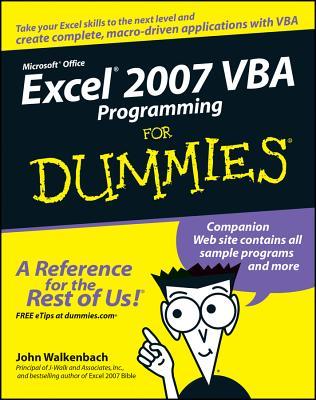 Excel 2007 VBA Programming for Dummies - Walkenbach, John