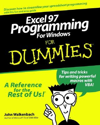 Excel 97 Programming for Windows for Dummies - Walkenbach, John