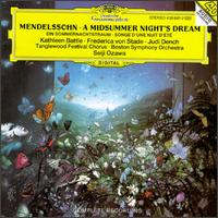 Felix Mendelssohn Bartholdy: A Midsummer Night's Dream - Frederica Von Stade (vocals); Judi Dench; Kathleen Battle (vocals); Seiji Ozawa (conductor)