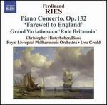 Ferdinand Ries: Piano Concertos, Vol. 3