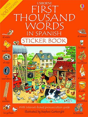 First 1000 Words in Spanish Sticker Book - Amery, Heather